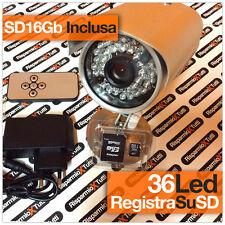 telecamera videosorveglianza con registrazione su micro SD con 36 led infrarossi