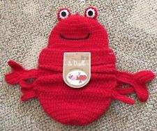 So 'Dorable Infant Lobster Cocoon Photo Outfit Red Crochet Newborn Up To 10 Lbs.