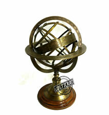 "Vintage Brass London Collectible Antique Armillary Sphere Clock Globe 5"" Gift"