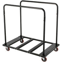 Folding Table Cart Table Rack Folding Table Cart Black Steel Storage Dolly