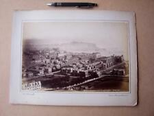 Scarborough From Olivers  Mount   . Victorian Photograph mounted on album card