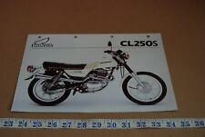 Honda CL250S one sheet spec sheet