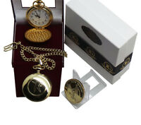 ELVIS PRESLEY Signed Pocket Watch and Gold Collectors Coin Luxury Gift Set Boxed