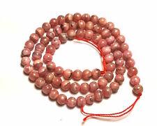 """15.5"""" NATURAL PINK Rhodochrosite Round Stone ~80 Beads 5.5mm K7511"""