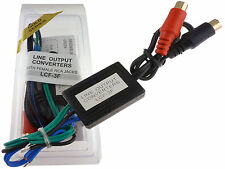 SPEAKER WIRE TO RCA HI/LOW ADAPTER CONVERTER LINE OUT FASTEST USA FREE SHIPPING!