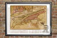 Vintage New York City, NY Map 1821 - Historic New York Art - Old Industrial