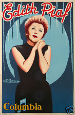 GIRBAL EDITH PIAF  AFFICHE MUSIC HALL ANCIENNE ORIGINALE CIRCA 1950-55