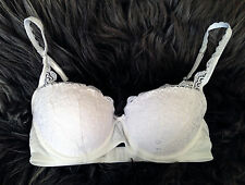 GILLY HICKS by Abercrombie LACE PUSH UP BALCONET BRA WHITE 34B NWT $50