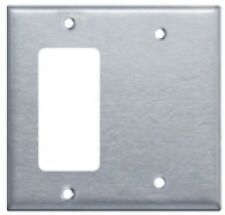 Westgate Ssc2B Two Gang with Decorative/Gfci Stainless Steel Wallplate