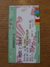 16/11/2002 Rugby Union Ticket: Wales v Canada [At Millennium Stadium Cardiff] .