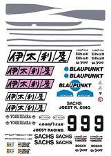 #9 Joest Porsche 962 / 956 1/64th HO Scale Slot Car Waterslide Decals