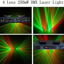 NEW ITEM 4 Lens 250mW Green+Red DMX Laser Party  DJ  Disco Stage Laser Light