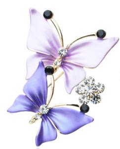 Women Scarf Clip Holder Crystal Butterfly Scarves Brooch
