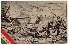 CARTOLINA 1912 IL BOMBARDAMENTO DI TRIPOLI 3 OTTOBRE 1911 RIF 9875