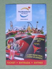 used touristic ticket Port Aventura 2017 Spain  - for collectors