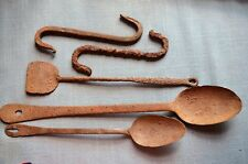 Lot of 5 Dug Relic Household Items from the 18th Century; Peel, Spoon, and More