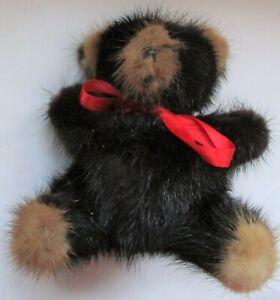"""Vintage Rare Bear Mink Teddy Bear 5 1/2"""""""
