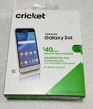 Cricket Samsung Galaxy Sol 16GB Gold UNLOCKED Android Smartphone (NIB)