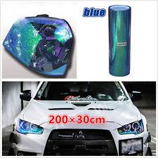Colorful Blue Car Headlight Rear Tail Lamp Vinyl Tint Film Sheet 2m Chameleon