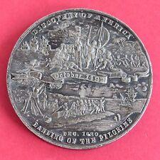 1890 oldenweck & Co Historia Americana Medalla De Metal Blanco 59mm