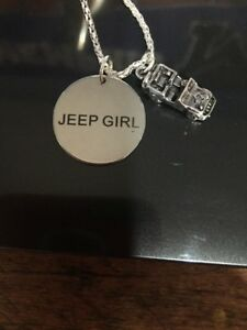 Jeep Girl Silver Charm Necklace