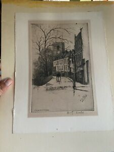 Harry George Webb Signed Etching Cheyenne Walk Chelsea
