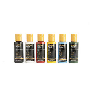 Leather Paint Set for Shoes, Bags, Clothing & Other Leather All Items. 50ml