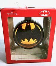 Hallmark BATMAN Bat Signal DC Comics Blown Glass Holiday Christmas Ornament