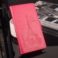 Funda libro flip piel sintetica tapa diseño eiffel Xiaomi Redmi Note 3 (152 mm)
