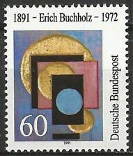 Germany 1991 MNH - Art - Erich Buchholz - Three Golden Circles - Relief in Wood