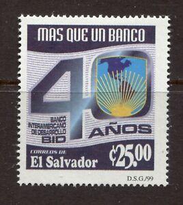 EL SALVADOR, INTER AMERICA DEVELOPMENT BANK - 40TH ANNIVERSARY, Scott 1529, MNH