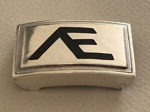 Vintage Sterling Silver and Black Onyx Taxco Mexico 69 Grams Belt Buckle