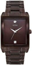 Guess U0102G1 41mm Diamonds Brown Steel Bracelet & Case Mineral Men's Watch