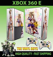 XBOX 360 E LOLLIPOP CHAINSAW LIGHT HEARTS ZOMBIE STICKER SKIN & 2 PAD SKIN
