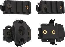 Black Tactical Air Soft Helmet Accessories 4 Piece Bundle Pack