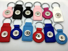 12PCS Snap button Leather Key Rings Fit 18MM Ginger Snap Jewelry Mix style Lots
