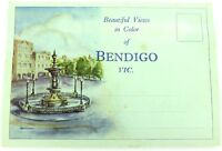 ".c1940s / 1950s COLOUR FOLDOUT UNUSED ""BEAUTIFUL VIEWS OF BENDIGO"""