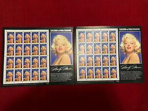 Lot Of 2 Marilyn Monroe Stamp Sheets 32¢ 1995 Unused Legends Of Hollywood Sheet