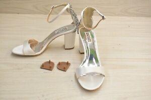 Badgley Mischka Zabella MP5401 Ankle Strap Heel - Women's Size 8.5 M, White NEW
