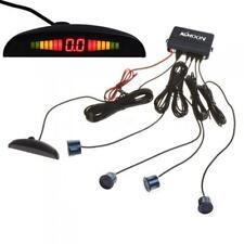 US Car LED Parking Reverse Backup Radar Parking Backlight + 4 Sensors Dark Blue