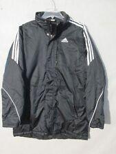 V7172 Adidas Black Nylon Poly-filled Zip/Snap Jacket Men's S