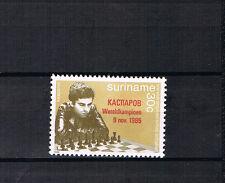 Suriname 1985 Satz 1162 Schach/Kasparov schon Postfrisch