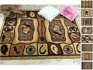 Lodge, Cabin Nature and Animals 8X10 Area Rug– Nature Pattern Cabin Area Rug