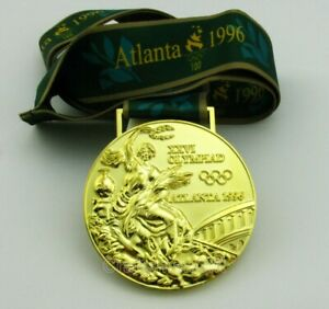 Atalanta 1996 Olympic Gold Medal with Ribbon 1:1 Full Size Replica