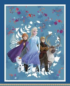 Disney Frozen 2 Friends Forever 100% Cotton Fabric by the panel