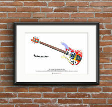 Paul McCartney's 1964 Rickenbacker 4001S Bass ART POSTER A3 size