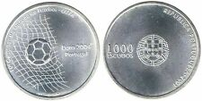 PORTUGAL: 1000 Escudos plata 2001 S/C EUROCOPA DE FUTBOL - UEFA 2004