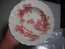 "Johnson Brothers THE OLD MILL PINK Soup Bowl 8""    Nice"