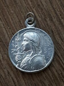 Medaille Religieuse alu religious medal sainte jeanne d'arc domremy 16mm france