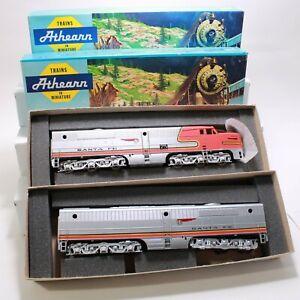 HO Scale - Athern - PA1-PB1 Santa Fe 75 A-B Loco Set - 3308 & 3365
